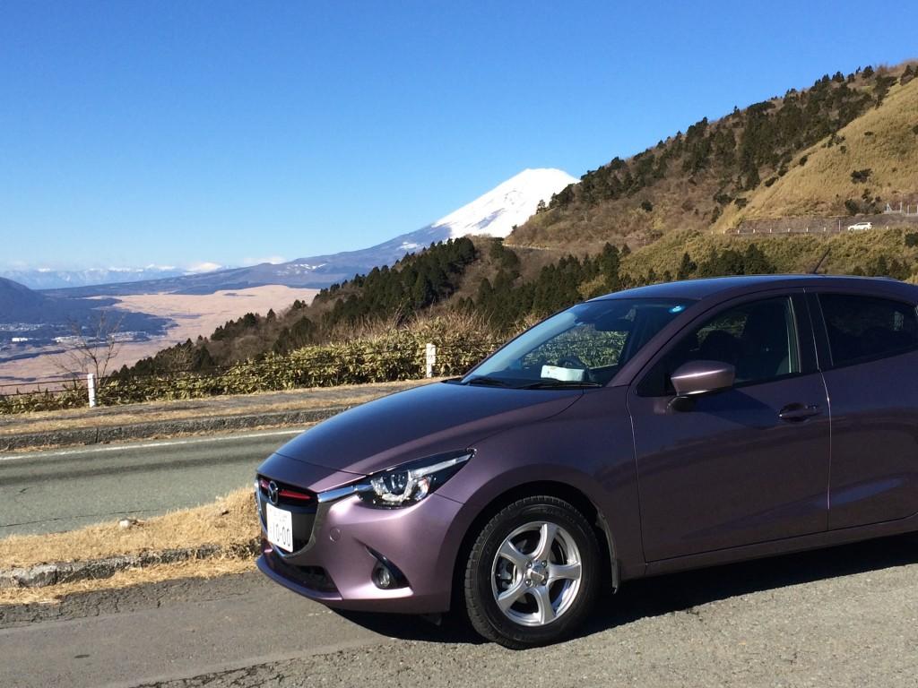芦ノ湖展望台からの富士山